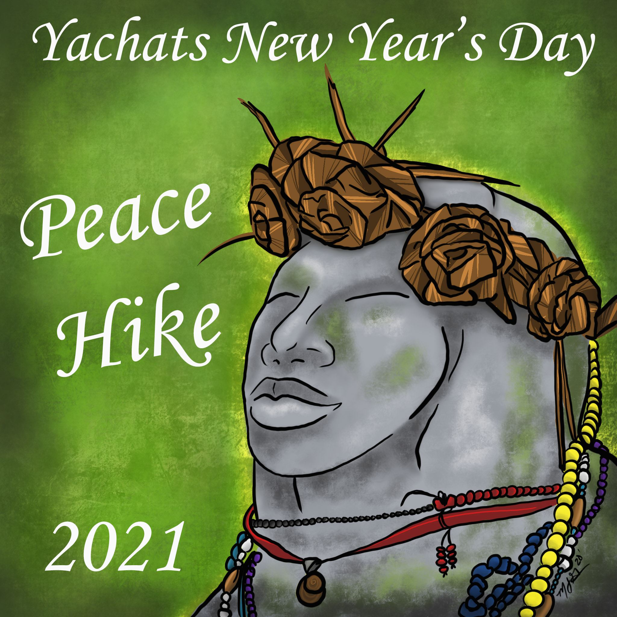 yachats news years day peace hike 2021