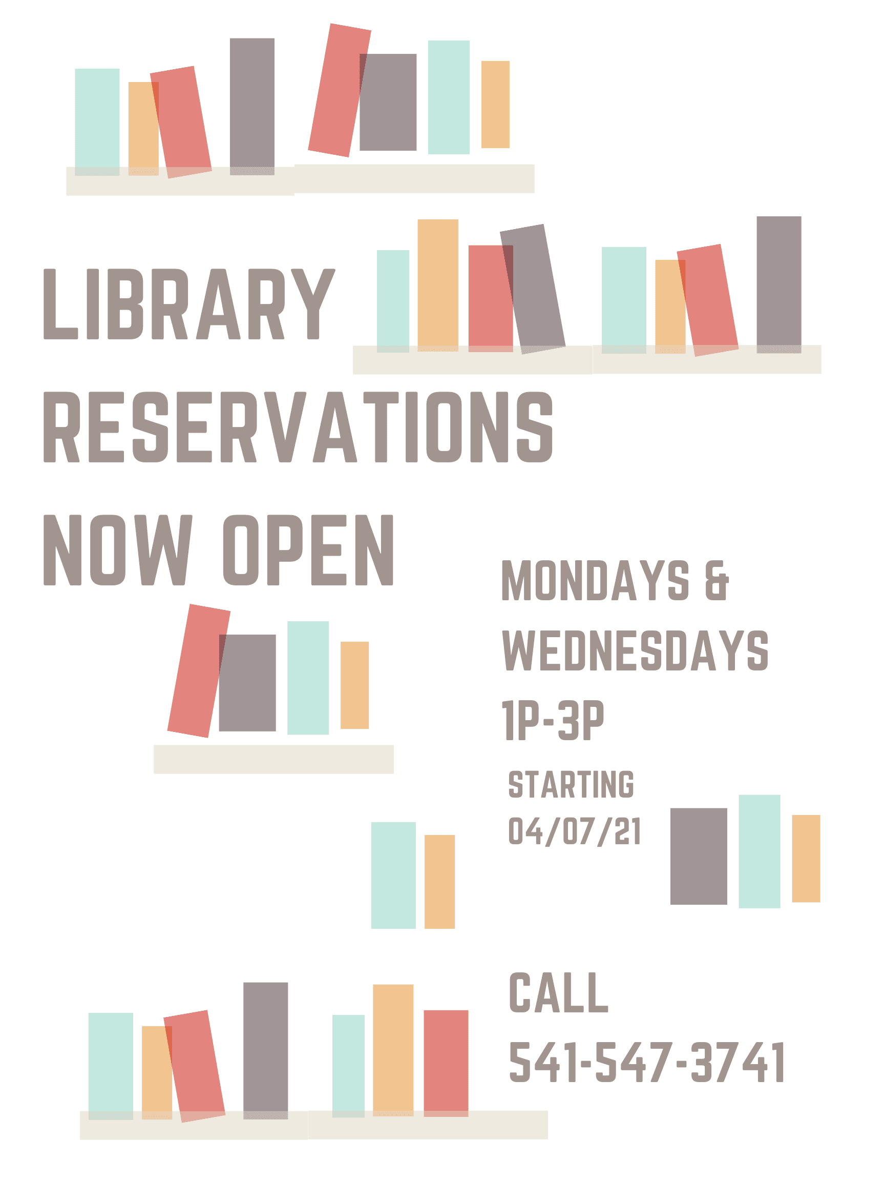 Library Reservations is Open